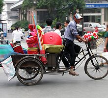Pedaller or Peddler, Yangzhou, China by DaveLambert