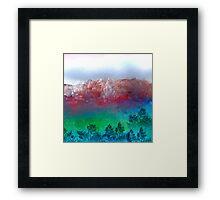 White Tree Hill Framed Print