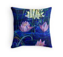 Pond Blue Throw Pillow