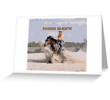 REINING HORSE Greeting Card