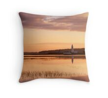 Sunrise Over Hurst Spit Throw Pillow