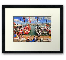 Volvo Ocean Race at the docks Framed Print