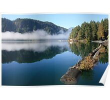blue lake and breakwater Poster