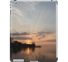 Heavenly Sunrays - Pink Sunshine Through the Clouds iPad Case/Skin