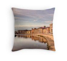 River Arno - Pisa Throw Pillow