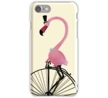 Penny Farthing Flamingo iPhone Case/Skin
