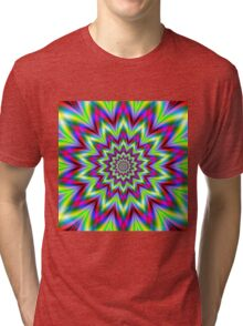 Psychedelic Star Flower Tri-blend T-Shirt