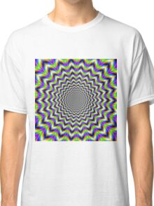 Psychedelic Star in Yellow Pink Blue and Green Classic T-Shirt