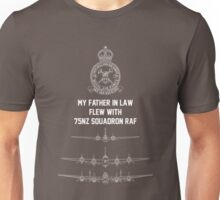 My Father in Law flew with 75NZ Squafron RAF Unisex T-Shirt