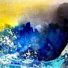 Stormy Sea by Angela  Burman