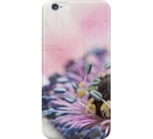White anemone heart iPhone Case/Skin