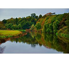 Reflections of an autumn evening. Photographic Print