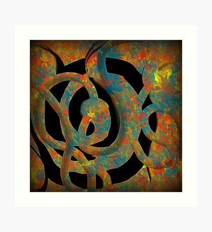 Unique Decorative Abstract Art Print