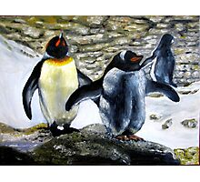 Two Penquins oil paintings Photographic Print