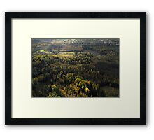 Autumn from helicopter Framed Print