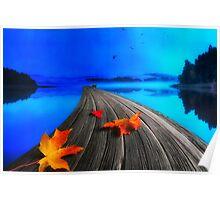 Beautiful autumn morning Poster