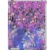 Decorative Abstract in Pink and Blue with Black Accents iPad Case/Skin