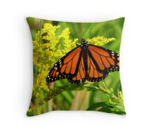 Monarch On Yellow Throw Pillow