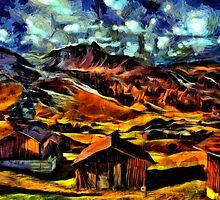 Beautiful Village Fine Art Print by stockfineart