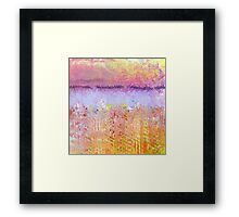 Impressionist's Wildflowers and Lake Framed Print