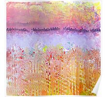 Impressionist's Wildflowers and Lake Poster
