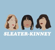 sleater-kinney faces One Piece - Short Sleeve