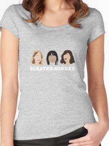 sleater-kinney faces Women's Fitted Scoop T-Shirt