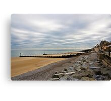 Sheringham beach Canvas Print
