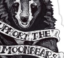 Support the Moonbears t-shirt Sticker