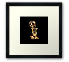 NBA Champion Trophy - SMILE DESIGN Framed Print