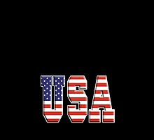 American Flag, USA, Stars & Stripes, America, Americana, Pure & Simple, on BLACK by TOM HILL - Designer