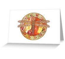 Hot Celtic Dragonfly Greeting Card