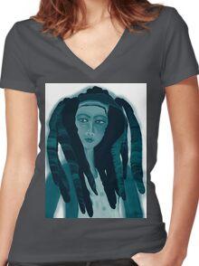 reggae profile Women's Fitted V-Neck T-Shirt