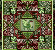 Celtic Dragon Labyrinth by foxvox