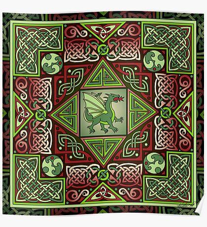 Celtic Dragon Labyrinth Poster