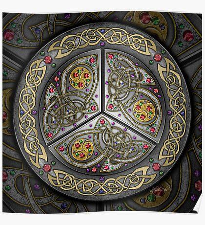 Bejeweled Celtic Shield Poster