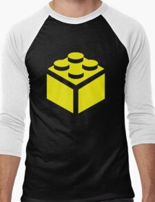 2 X 2 BRICK Men's Baseball ¾ T-Shirt