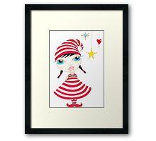 Candy Cane Elf Framed Print