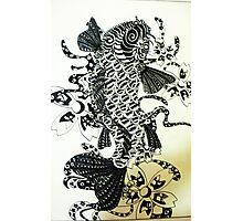 Texture Koi Fish Photographic Print