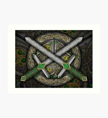 Crossed Celtic Daggers Art Print
