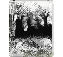 Abstract Black and White with People Design iPad Case/Skin