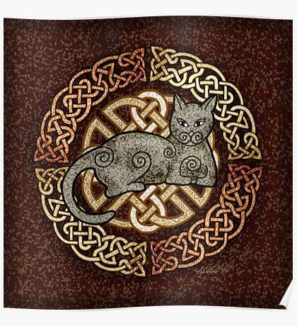 Celtic Cat Poster