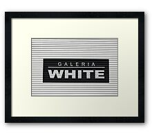 How White Can It Get? Framed Print
