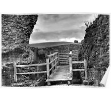 Denbigh Castle -ramparts Poster