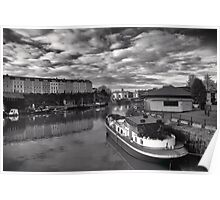 Bristol Docks Black and White Poster