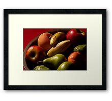 Bucket of fruit Framed Print