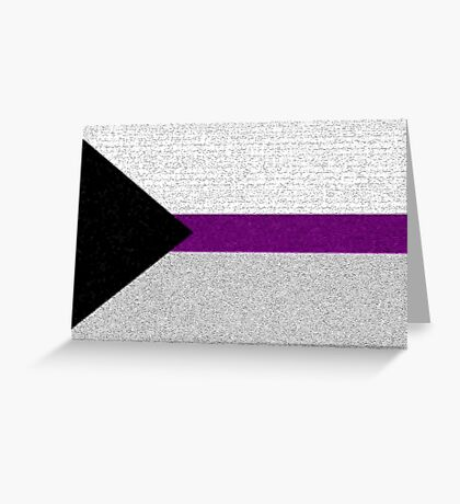 Demisexual Flag- Painted on a Wall Greeting Card