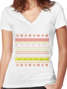 Daisy line Women's Fitted V-Neck T-Shirt