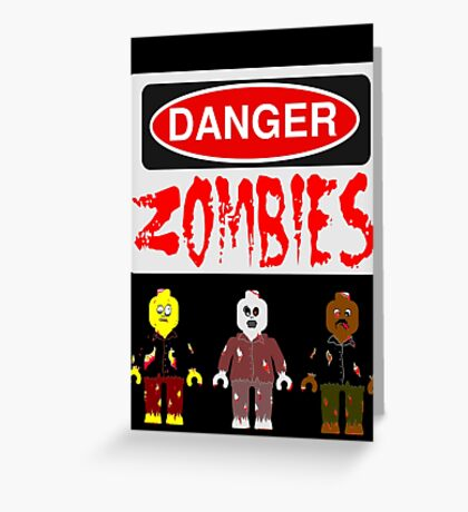 DANGER ZOMBIES Greeting Card
