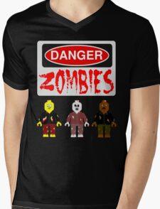 DANGER ZOMBIES Mens V-Neck T-Shirt
